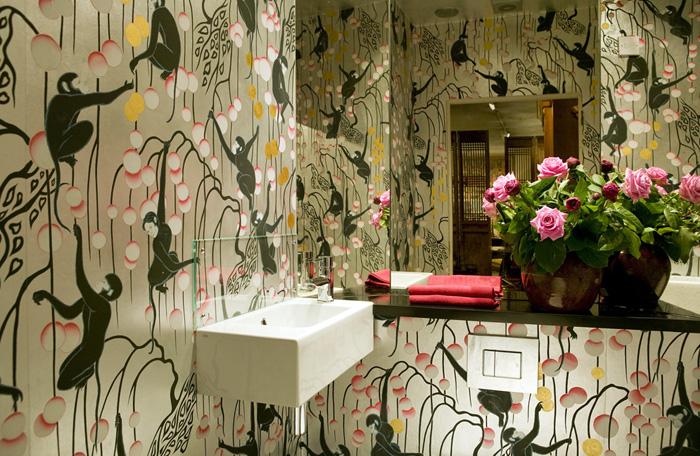 Ophelia S Adornments Blog May 2012: Hand Painted Wall Paper De Gournay