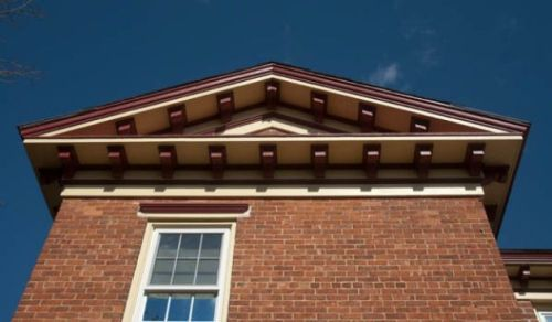 Some of the soffits that Rudy restored when the home was first purchased.