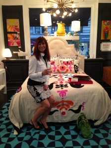 Tufted Headboard, and fabulous bedding!!!