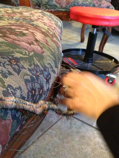 Removing the cording