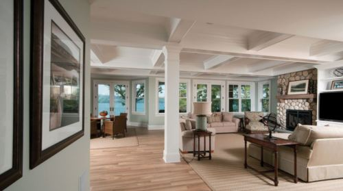 farmhouse-painted-coffered-ceiling
